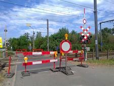 Spoorweg gesloten Persregio Dender