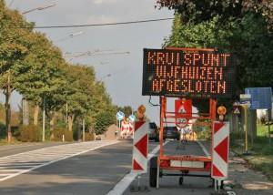 Wegenwerken aan Vijfhuizen Erpe Persregio Dender