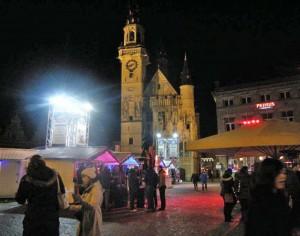 Aalsterse Grote Markt in Kerstsfeer Persregio Dender