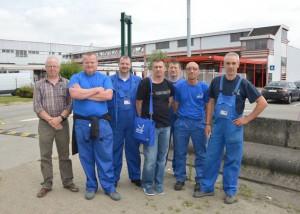 Werknemers drankendepot Delhaize Ninove Persregio Dender