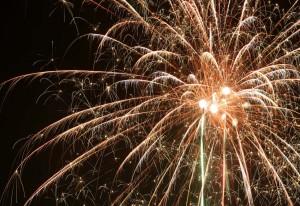 Kerstwensen met vuurwerk Persregio Dender