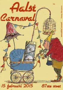 Carnavalsaffiche Aalst 2015 Persregio Dender