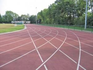 Ninove atletiekpiste Parklaan Persregio Dender
