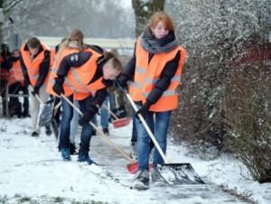 Sneeuw ruimen Persregio Dender