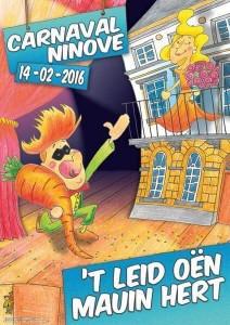 Carnavalsaffiche Ninof 2016 Persregio Dender