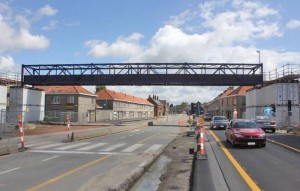 Boudewijnlaan Aalst voetgangersbrug tunnelwerken Persregio Dender