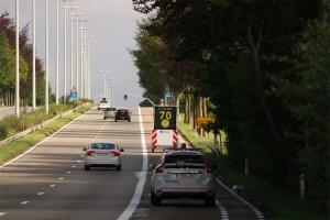 Lokale politie Denderleeuw Haaltert aanhangwagen met meerlijnendisplay Persregio Dender