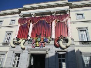 Stadhuis Aalst versiert carnaval Persregio Dender