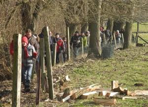 Wandelaars op pad in landelijke wegen Wandelen Persregio Dender
