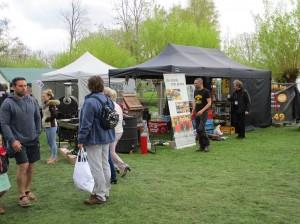 BBQ contest in stadspark Ninove Persregio Dender