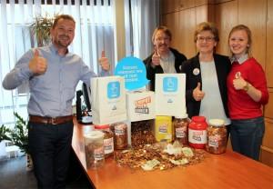 Elien en Patricia voor Rospot tegen Kanker Persregio Dender