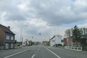 Verkeerslichten in Meerbeke Persregio Dender