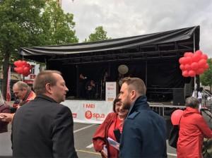 Socialisten op 1 mei viering Aalst Persregio Dender