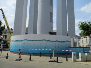 Watertoren in Aalst Persregio Dender