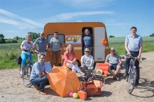 CD&V Geraardsbergen met caravan Persregio Dender