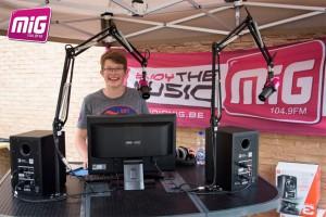 Radio MIG op toernee Persregio Dender