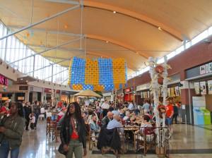 Ninia Shopping Center binnenkant Ninove Persregio Dender