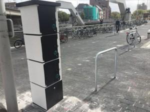 Oplaadpaal voor electrische fietsen in Aalst