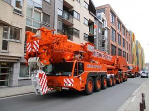 Zwaar vervoer in stad Aalst zonder begeleiding Persregio Dender