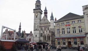 Aalst Grote Markt tijdens eindejaar Persregio Dender