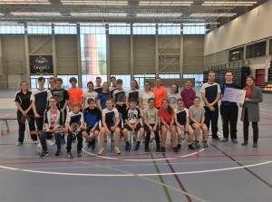 Aalsterse Badminton Club krijgt cheque Persregio Dender