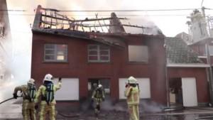 Brand huis in Zandbergen Persregio Dender