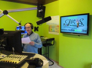 Pieter Van Banden tijdens uitzending Muziek Museum PROS Persregio Dender