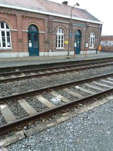 Station perrons station Viane-Moerbeke Persregio Dender