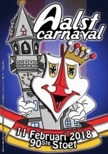 Carnavalsaffiche 2018 Aalst Oilsjt Persregio Dender