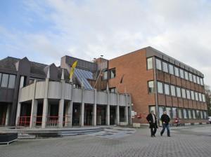 Denderleeuw gemeentehuis op Dorp Persregio Dender
