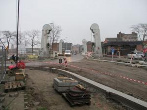 Hoek Tragel en Denderstraat Aalst heraanleg straat Persregio Dender