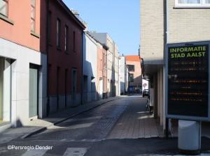 Peperstraat in centrum van Aalst Persregio Dender