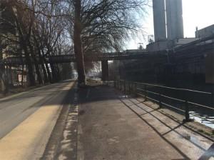 Aalst weg langs Dender aan Amymum Persregio Dender