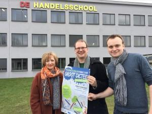 Groot Dictee der Nederlandse Taal in Handelsschool Aalst Persregio Dender