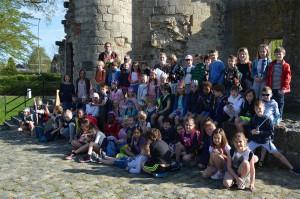 Herzele leerlingen krijgen geschiedenisles aan De Burcht Persregio Dender