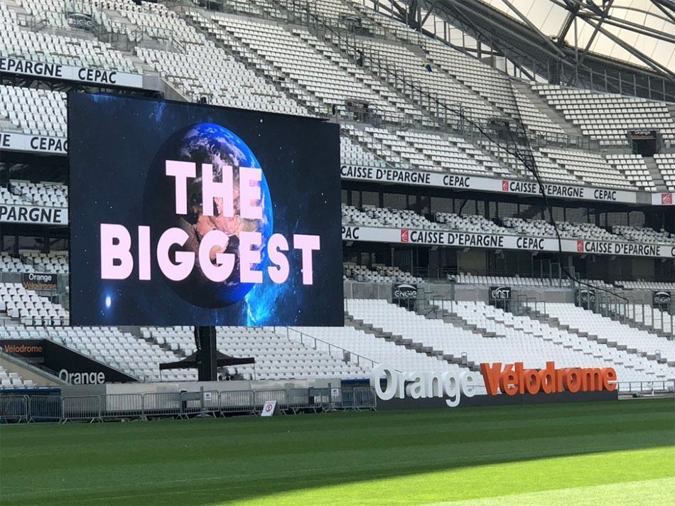 grootste led scherm ter wereld