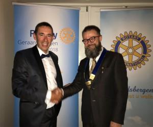 Bernard Carion nieuwe voorzitter Rotary Club Geraardsbergen Persregio Dender