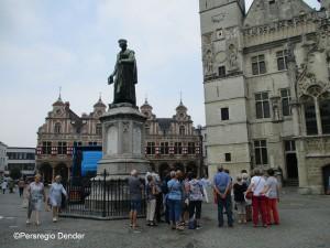 Grote Markt Aalst met rondleidingen gidsen Persregio Dender