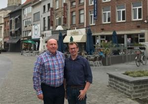 Peter en Andrew tijdens WK in Ninove voor N-VA Persregio Dender
