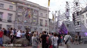 Aalst Grote Markt tijdens 11juli-vieringen 2018 Persregio Dender