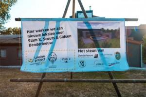 Bouw nieuwe jeugdlokalen Scouts & Gidsen & Stam X Denderleeuw van start 2018 Persregio Dender