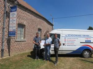 Uitreiking certificaat aan Schoonmans Steven in Odisee Aalst Persregio Dender