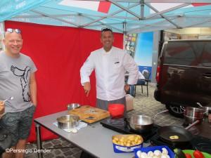 Albert Verdayen kookt op markt in Aalst Persregio Dender