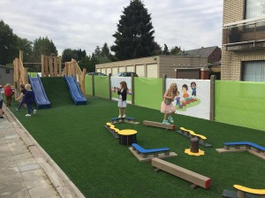 De speelplaats van GO! basisschool Faluintjes in Moorsel Persregio Dender