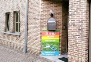 Goed leven in Haaltert affiche op straat Persregio Dender