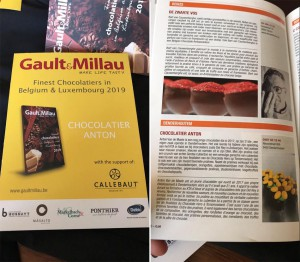 Anton chocolatier Denderhoutem in Gault & Millau Persregio Dender